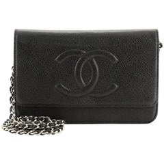 Chanel Timeless Wallet on Chain Caviar