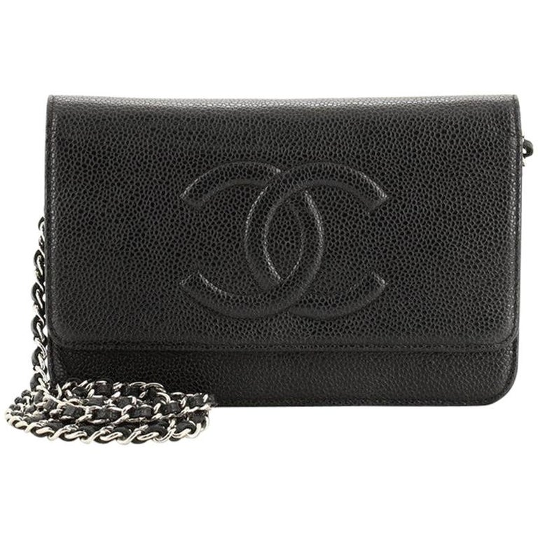 Chanel Timeless Wallet on Chain Caviar For Sale
