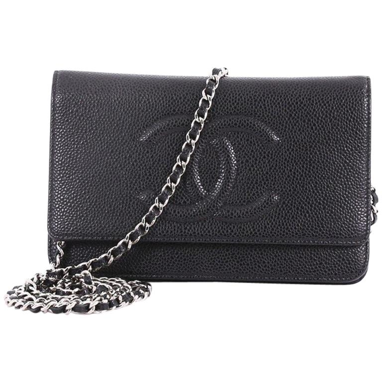 720d3b1353fb Chanel Timeless Wallet on Chain Caviar at 1stdibs