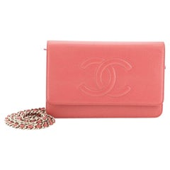 Chanel Timeless Wallet on Chain Caviar,