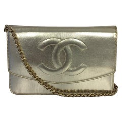 Chanel Timeless Wallet on Chain Metallic Leather