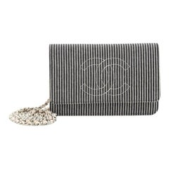 Chanel Timeless Wallet on Chain Striped Denim