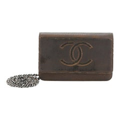 Chanel Timeless Wallet on Chain Textured Leather