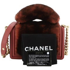 Chanel Top Handle Boy Flap Bag Fur Small