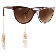 Chanel Tortoise Cat Eye Fantasy Sunglasses