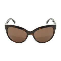Chanel Tortoiseshell Pearl Trim Butterfly Shaped Sunglasses