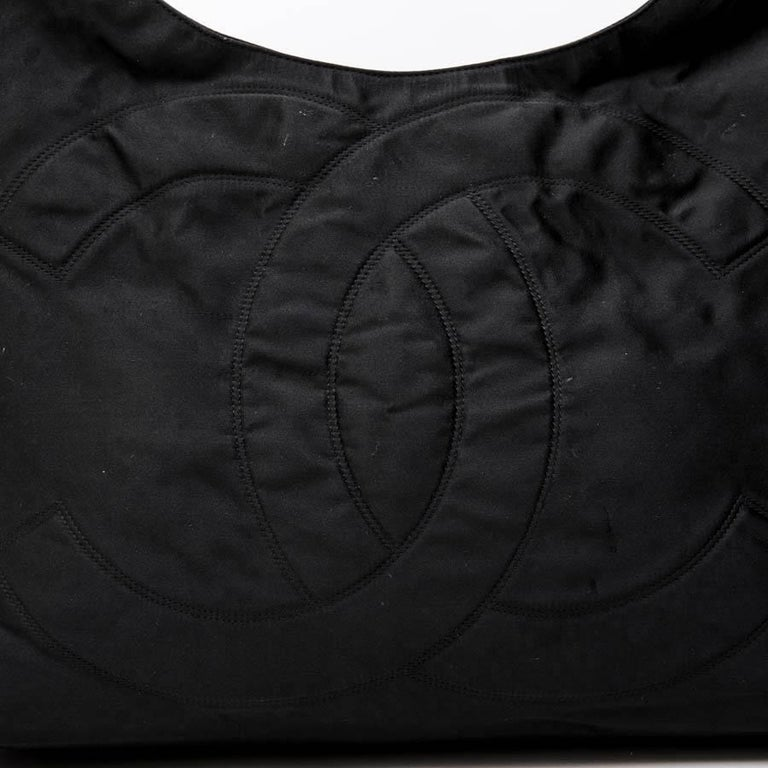 CHANEL Tote Bag in Black Duchess Satin For Sale 9
