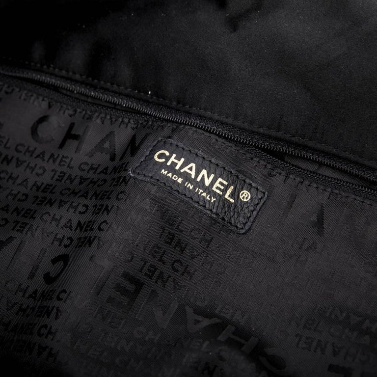 CHANEL Tote Bag in Black Duchess Satin For Sale 10
