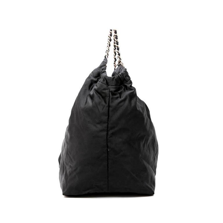 CHANEL Tote Bag in Black Duchess Satin For Sale 1
