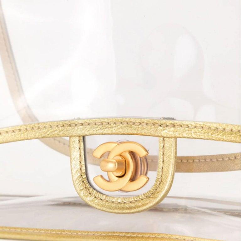 Chanel Transparent Naked Classic Gold Vintage Flap Bag For Sale 1