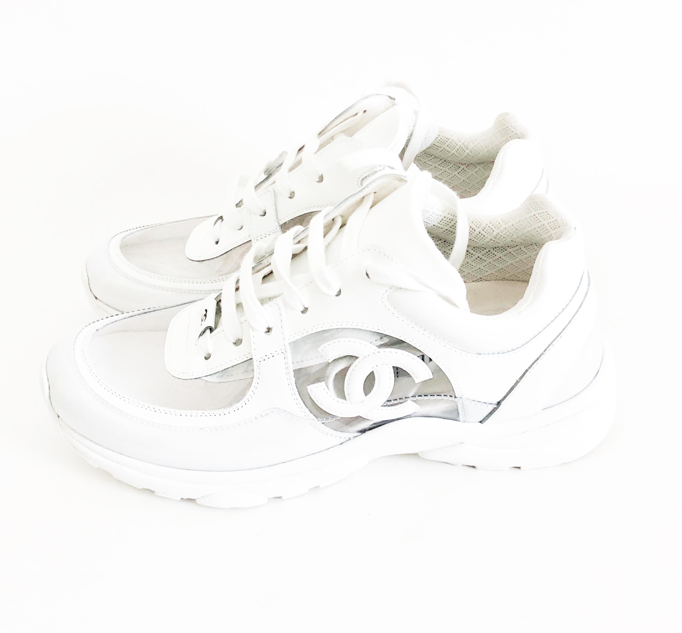 Chanel Transparent White PVC Trainers