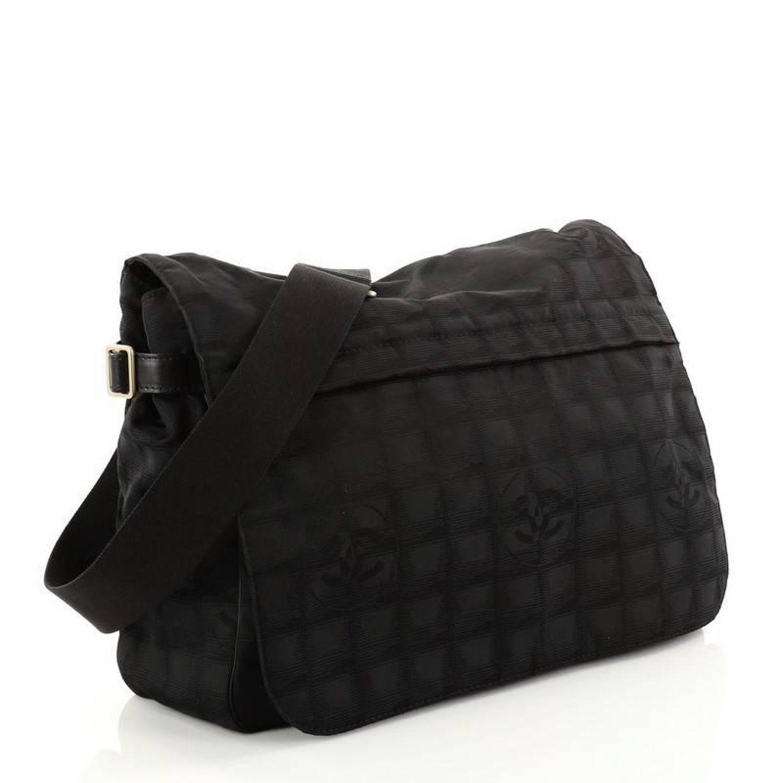 0dc495c46590 Chanel Travel Line Messenger Bag Nylon Large at 1stdibs
