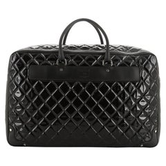 Chanel Travel Suitcase Quilted Vinyl with Calfskin XL