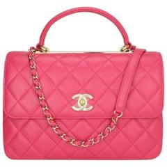 CHANEL Trendy CC Bag Medium Pink Lambskin with Light Gold Hardware 2020