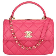 CHANEL Trendy CC Bag Small Pink Lambskin with Light Gold Hardware 2020