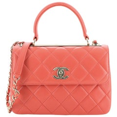 Chanel Trendy CC Top Handle Bag Quilted Lambskin Small