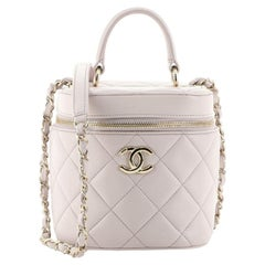 Chanel Trendy CC Top Handle Vanity Case Quilted Lambskin Small