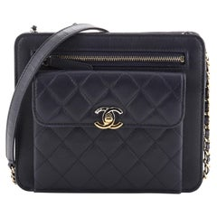Chanel Trendy Front Pocket Clutch With Chain Quilted Lambskin Small