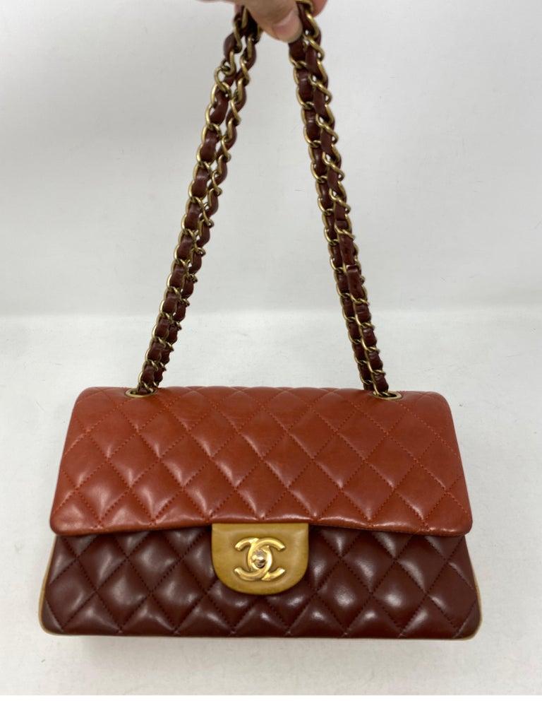 Brown Chanel Tri-color Medium Bag For Sale