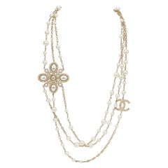 Chanel Triple Strand Pearl Necklace