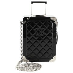 Chanel Trolley Minaudiere Plexiglass and Quilted Patent