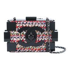 Chanel Tweed and Plexiglass Lego Crossbody Bag