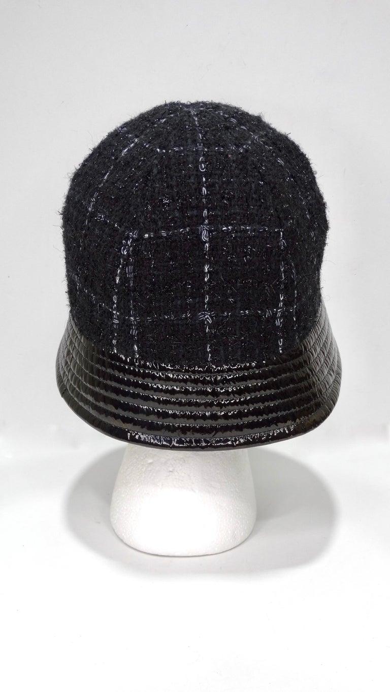 Black Chanel Tweed Bucket Hat For Sale