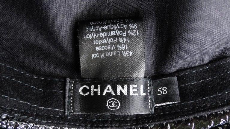 Women's or Men's Chanel Tweed Bucket Hat For Sale
