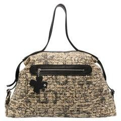 Chanel Tweed Icon Clover Boston Handbag
