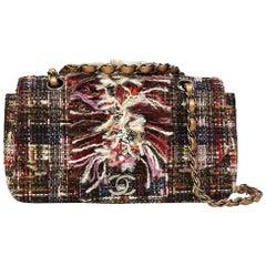 Chanel tweed sequins multicoloured shoulder bag