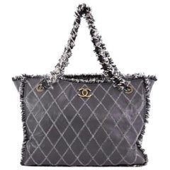 Chanel Tweedy Tote Quilted Leather Large