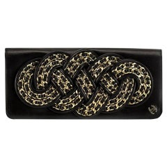 Chanel Twisted Chain Knotted Limited Edition Rare Black Lambskin Clutch