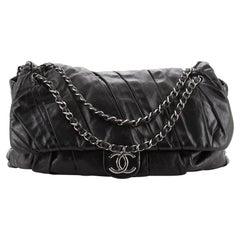 Chanel Twisted Flap Bag Glazed Calfskin Jumbo