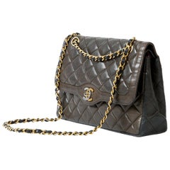 Chanel Two Tone Double Flap Diana Bag Quilted