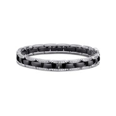 Chanel Ultra 0.85 Carat Diamond and Black Ceramic Bracelet 18 Karat White Gold