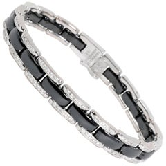 Chanel Ultra Diamond and Black Ceramic Bracelet in 18k White Gold 0.85 Carat