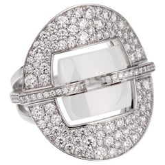 Chanel Ultra Diamond White Gold Ceramic Ring