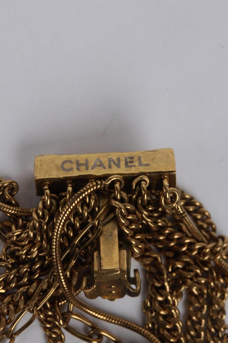 Women's Chanel Ultra Long Earrings - black/gold For Sale