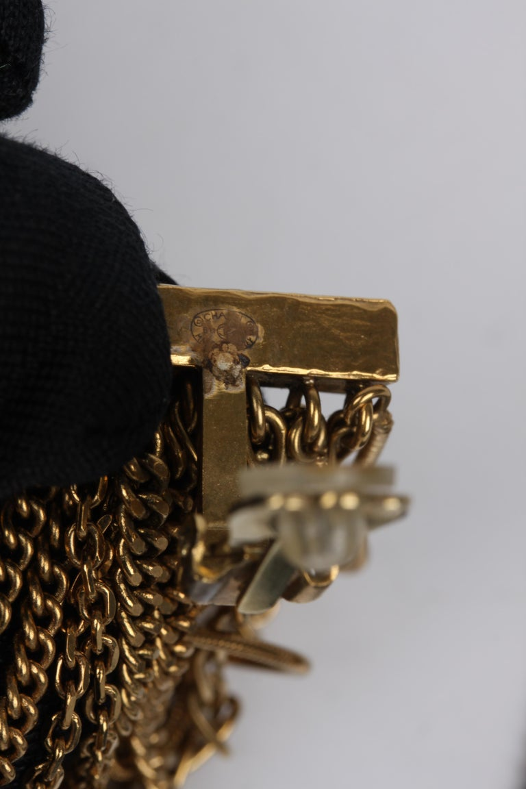 Chanel Ultra Long Earrings - black/gold For Sale 1