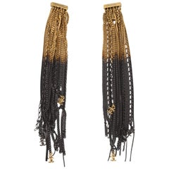 Chanel Ultra Long Earrings - black/gold