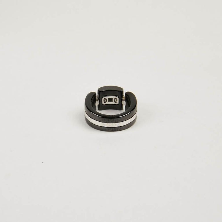 Women's CHANEL Ultra Ring In White Gold And Black Ceramic For Sale