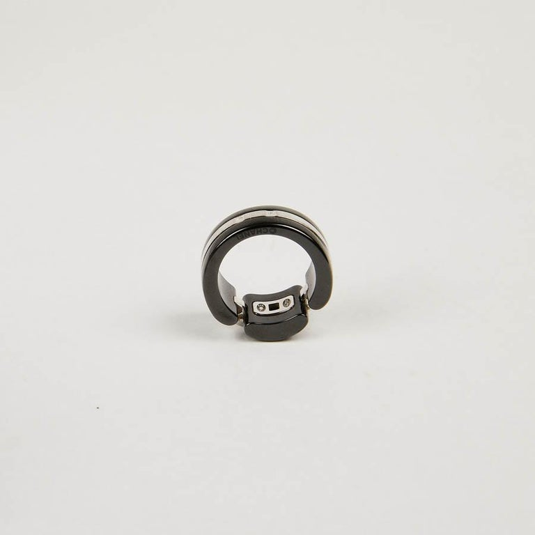 CHANEL Ultra Ring In White Gold And Black Ceramic For Sale 1