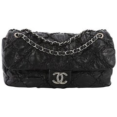 Chanel Ultra Stitch Flap Bag Quilted Calfskin Jumbo