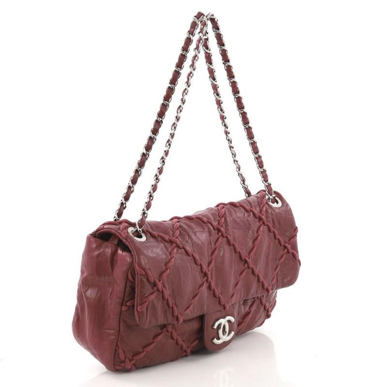 81205b2df0da Chanel Ultra Stitch Flap Bag Quilted Calfskin Medium For Sale at 1stdibs