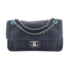 Chanel Up In The Air Flap Bag Perforated Leather Medium