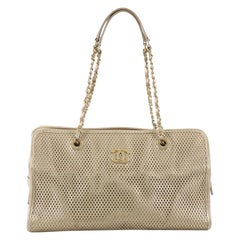 Chanel Up In The Air Tote Perforated Leather East West