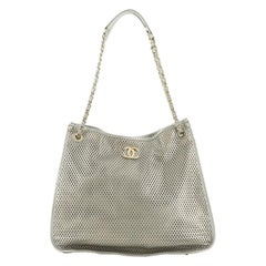 Chanel Up In The Air Tote Perforated Leather