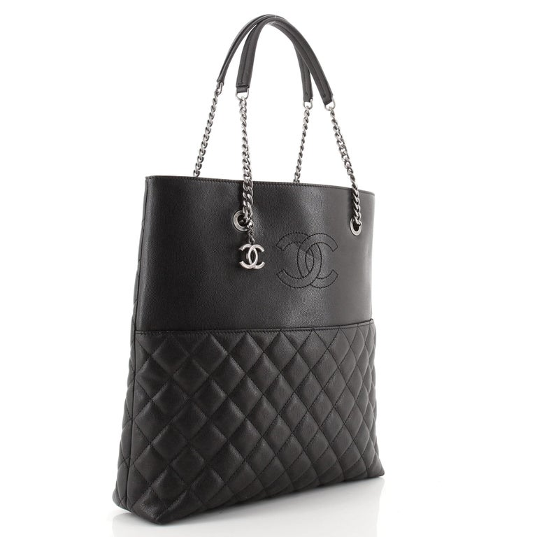 Chanel Urban Delight Chain Tote Quilted Caviar Large In Good Condition For Sale In New York, NY