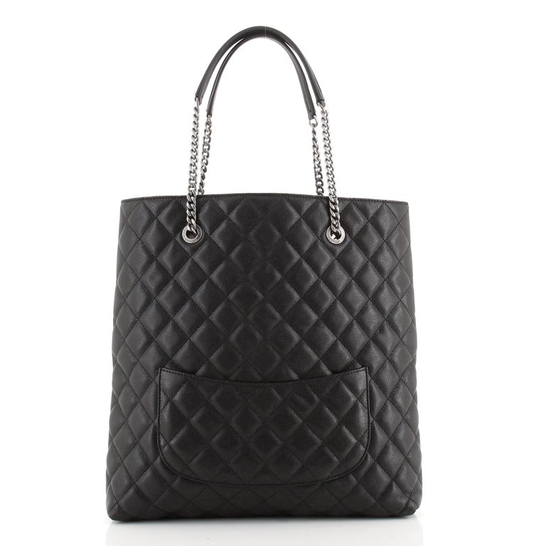 Women's or Men's Chanel Urban Delight Chain Tote Quilted Caviar Large For Sale