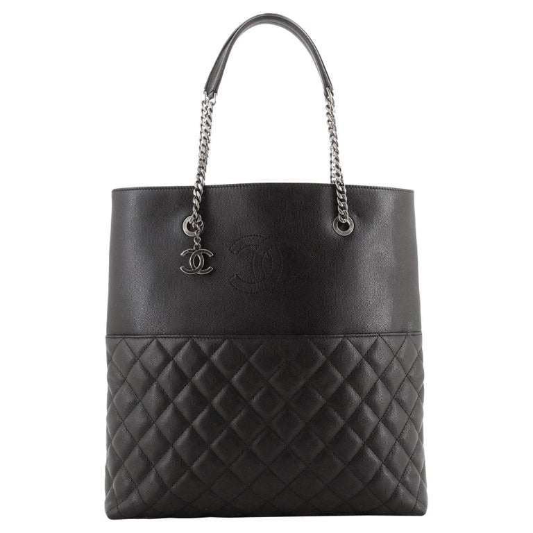 Chanel Urban Delight Chain Tote Quilted Caviar Large For Sale